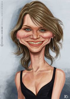 Cameron Diaz Crazy Funny Pictures, Funny Pictures Of Women, Funny Caricatures, Celebrity Caricatures, Cameron Diaz, Celebrity Drawings, Celebrity Pictures, Cartoon Faces, Funny Faces