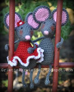 Pita and Pip the Mouse crochet pattern