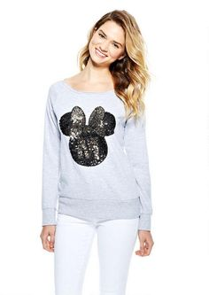 Minnie Sequin Sweatshirt - Lounge - Clothes -  At dELiA*s - #MinnieStyle