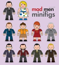 Mad Men minifigs illustration by Dyna Moe.