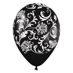 Black and white damask balloon is the perfect Phantom of the Opera party decoration: From the article: Phantom of the Opera Party Ideas:http://www.squidoo.com/phantom-of-the-opera-party-ideas