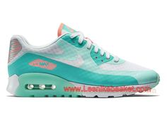 quality design 993a7 af157 Basket Femme Nike Wmns Air Max 90 Ultra Breathe GS Blanc Bleu 725061 103  Officiel nike