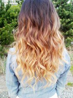 ombre - kind of love this color. I could finally say I went blonde....ish