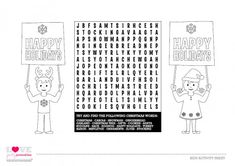 free kids activity sheet