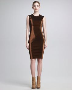 Jean Paul Gaultier Metallic Sheath Dress #www.frenchriviera.com