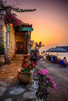 Taverna by the sea, Limeni, Mani, Greece
