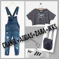 New Post outfitsforcutekids.com Chanel+Adidas+Zara+Ikks