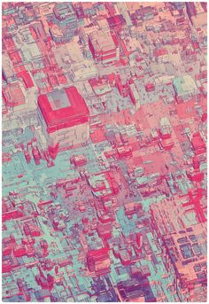 PIXEL CITY by atelier olschinsky , via Behance