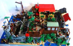 Pirate town of Tortuga... modular build: A LEGO® creation by swash buckler : MOCpages.com