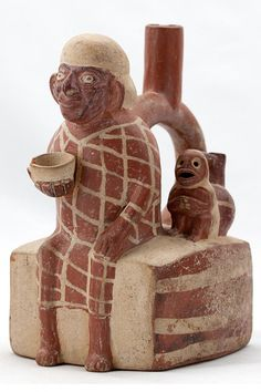 Vessel, Moche, Peru, north coast, 100 - 800 C.E., ceramic, Fowler Museum at UCLA. X86.3750.