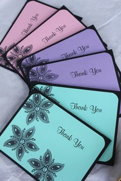 Handmade thank you cards by CraftedbyLizC