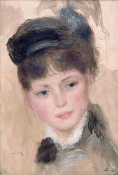 Renoir - Jeune femme au chapeau noir / Palais des Beaux Arts de Lille