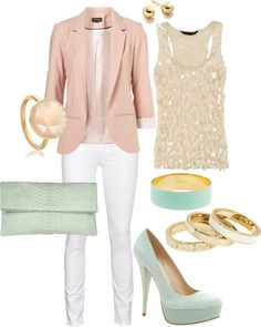 Summer nights, created by damarad on Polyvore