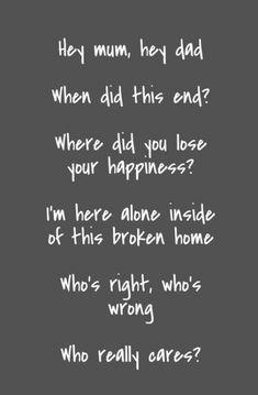 Broken Home Quotes