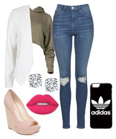 """Annythiing "" by passion18 on Polyvore featuring River Island, Topshop, Jessica Simpson, adidas and Lime Crime"