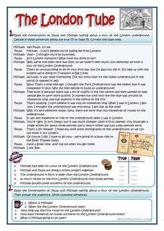THE LONDON TUBE worksheet - Free ESL printable worksheets made by teachers