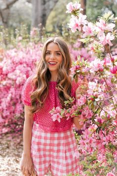 pink. Spring Fashion Outfit for Women