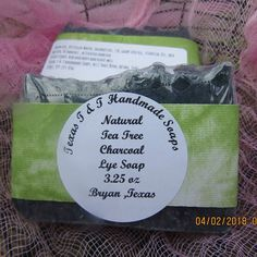 Natural Tea Tree And Lavender Charcoal Acne Lye Hot Process Soap Bars Lye Soap, Glycerin Soap, Charcoal For Acne, Bath Balms, Soap Shop, Product Page, Handmade Soaps, Tea Tree, Soy Candles
