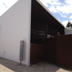Public library in Tavira, Portugal. Extension added to former prison.