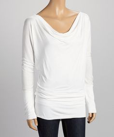 Take a look at the Casa Lee White Dolman Tunic on #zulily today!