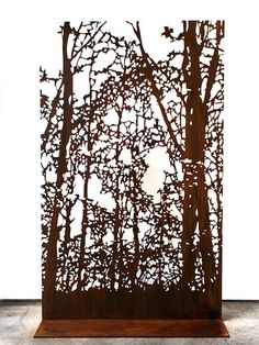 """Digital vs analogue"" Corten steel (195 x 120 cm) 2013 (1/3)"