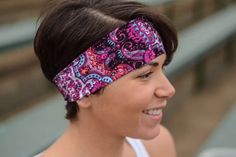A personal favorite from my Etsy shop https://www.etsy.com/listing/489726239/yoga-headband-fitness-headband-workout