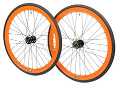 Retrospec Bicycles Mantra Fixed-Gear/Single-Speed Wheelset with 700 x 23C Kenda Kwest Tires and Sealed Hubs, Orange:Amazon:Sports & Outd...