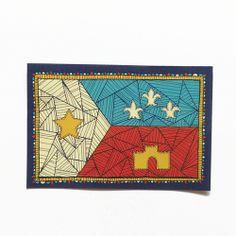 Acadian flag patch extras parish ink louisiana for Tattoo shops lafayette louisiana