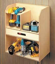 Cordless Drill Storage/Charging Station - by iamwelty @ LumberJocks.com ~ woodworking community