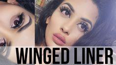 Nicki minaj hack – winged eyeliner talk thru tutorial Emo Makeup, Makeup Lipstick, Beauty Makeup, Asian Makeup, Winged Eyeliner Tutorial, Winged Liner, Protruding Eyes, Smoky Eyes, Korean Makeup Tutorials