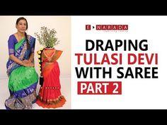 e Narada Saree Draping for Tulasi Devi Tulasi Plant, Plant Decor, Lakshmi Sarees, Ganpati Decoration Design, Drape Sarees, Basil Plant, Puja Room, Festival Decorations, Holi