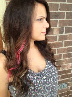 Ombré  w/ pink for Breast Cancer Awareness :)