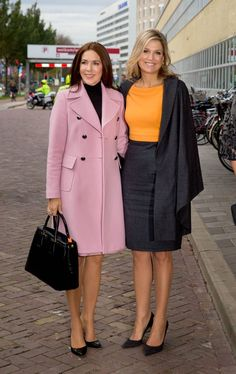 MyRoyals:  Crown Princess Mary and Queen Maxima attended the Third World Conference of Women's Shelters at the World Forum, The Hague, November 4, 2015