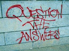 Question the answers graffiti Graffiti Quotes, Art Quotes, Media Quotes, Coaching Questions, First Day Activities, Classroom Activities, First Day School, High School, Middle School