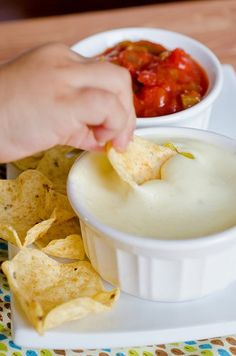 This recipe supposedly came from someone who actually worked at a Mexican restaurant and passed along this recipe on how to make Queso Blanco Dip (white cheese dip) like they do in their restaurant.