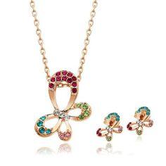Colourful Austrian Crystal Butterfly Necklace and Earrings Jewelry Set DDStore DDStore,http://www.amazon.com/dp/B00I6IHKK6/ref=cm_sw_r_pi_dp_LYjntb17FAYRV33K