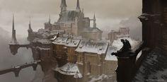 Winter Castle, Aleksey Kovalenko on ArtStation at https://www.artstation.com/artwork/winter-castle-084aac1a-da15-40c9-b2b1-32d81d51d608
