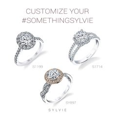 Love the halo on one ring but prefer the shank of another? Perhaps you want a bezel setting but with a different diamond cut? No problem, we can do it all!  Here at Sylvie Collection, we can customize all of our engagement rings to your liking. Whether it's a different stone, shank, or metal, Sylvie Collection can customize your #SomethingSylvie into something special!    #SylvieCollection #GetEngagedWithSylvie #EngagementRing #Diamonds #Jewelry #Custom #Personalize #MakeItYours