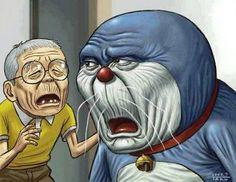 Pada kebayang gak kalau tuanya Nobita sama Doraemon kaya begini?