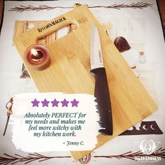 Cutting boards are often used to chop ingredient for recipes, making this a great tool to add a little magick to your everyday meal prep! // #kitchenwitch #magick #cooking #baking #brewing #mealprep #herbalmagick #chopping #food #cutting Kitchen Witchery, Cutting Boards, Magick, Brewing, Meal Prep, Herbalism, Bamboo, Bubbles, Herbs