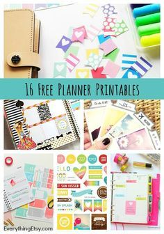 16 Free Planner Printables I have become quite the Planner Girl over the last few years, and I'm always looking for fabulous planner printables to dress up my daily notes and schedule. I love colorful stickers and inspiring quotes! Do you know there are...