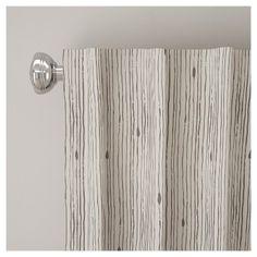 "Blackout Shibori Stripe Curtain Panel Gray (50""x108"") - Skyline Furniture"
