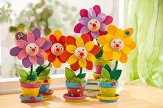 Bunte Blumen für das Kinderzimmer - Bastelshop und Bastelbedarf VBS ...