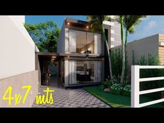 Duplex House Design, Tiny House Design, Minimalist House Design, Minimalist Home, Small Modern House Plans, House Goals, Shed, Outdoor Structures, Youtube