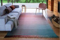 Teppich wohnzimmer modern gestreift meliert grau teppich