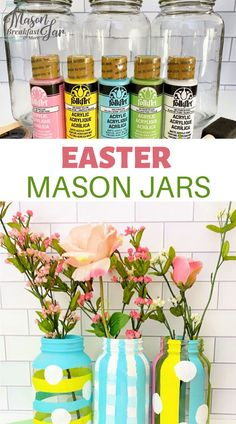 Looking for Mason jar Easter crafts? Find fun, festive tutorials for simple crafts here on Mason Jar Breakfast! Mason Jar Kitchen, Ball Mason Jars, Mason Jar Gifts, Mason Jar Diy, Jar Crafts, Easter Crafts, Easter Ideas, Holiday Crafts, Mason Jar Projects