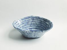 Blue Lines Oval Bowl — CMB