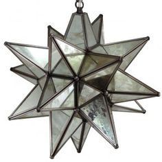 $149 - Glass Star Light Fixture, 15, Antique Mirrored