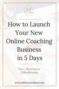 How to Launch Your New Online Coaching Business in 5 Days Are you starting your coaching business from scratch? It doesn't need to take weeks and months just to get your business basics up & running! Starting a business online makes it Life Coaching Tools, Online Coaching, Business Advice, Online Business, Business Coaching, Becoming A Life Coach, Health Coach, Starting A Business, Motivation
