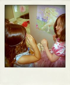 Pin the Horn on the Unicorn - game idea for fairy princess party
